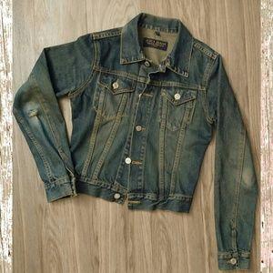 Juicy Couture distressed denim jacket